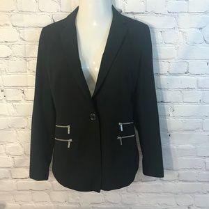MICHAEL Michael Kors Womens Jacket Size 8 Black